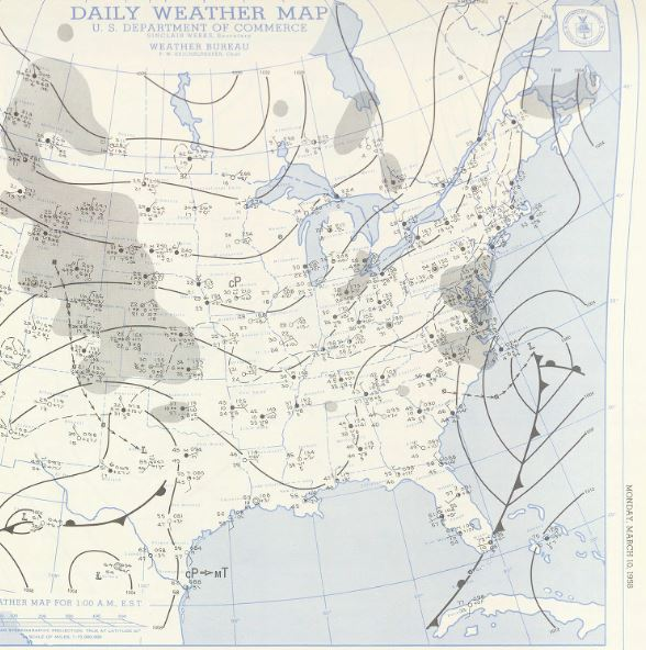 March Weather History - Us weather map march